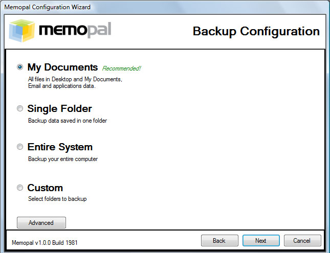 online backup review and rating of MemoPal Online Backup by backupreview.info