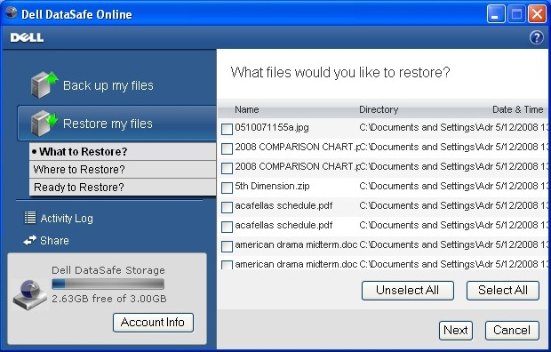 dell datasafe local backup 1.1