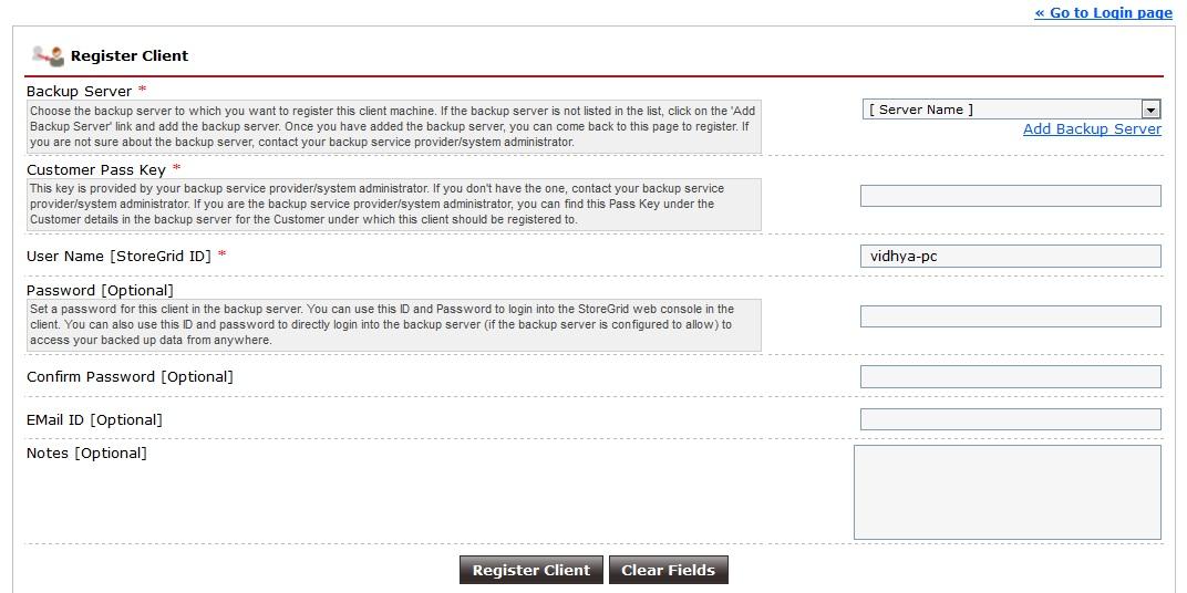 Vembu-StoreGrid-Service-Provider-Edition-Client-Register