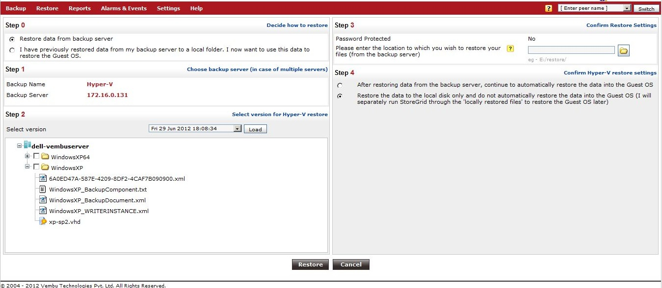 Vembu-StoreGrid-Service-Provider-Edition-HyperV-Restore-Screen