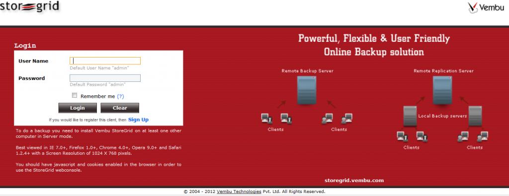 Vembu-StoreGrid-Service-Provider-Edition-Admin-Login